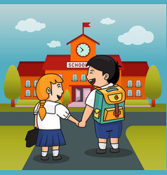 Children back to school background vector