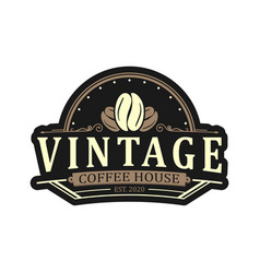 Coffee logo for cafe resto and product label vector
