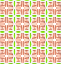 Colored 3D green and orange striped pointy squares vector
