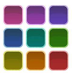 colorful empty frames for app logo design vector image