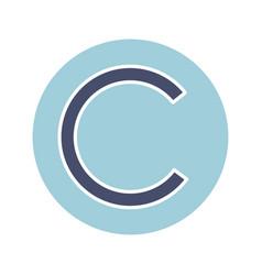 copyright symbol glyph color icon vector image
