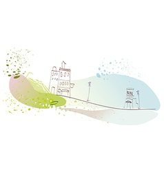 Creative townscape scene vector image