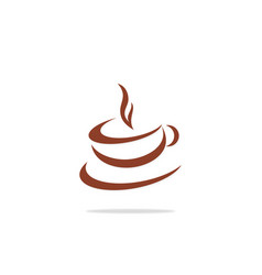Cup coffee cafe abstract logo vector