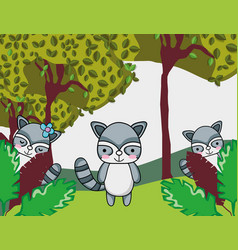 Cute family cats vector