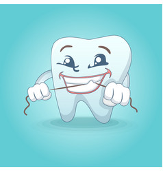 cute smiling tooth concept background cartoon vector image