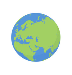 earth globe icon world planet with europe map vector image