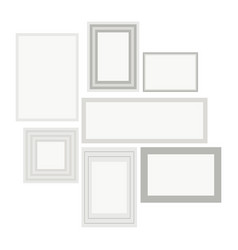 empty white pocture vector image
