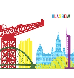 Glasgow skyline pop vector
