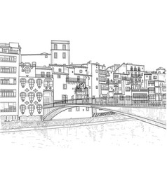 gomez bridge in girona vector image