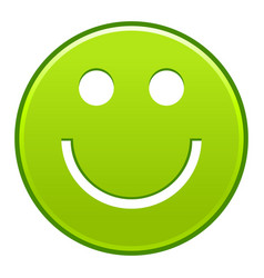 Green smiling face cheerful smiley happy emoticon vector