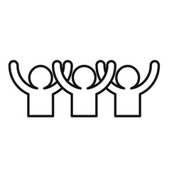 Happy audience icon outline style vector
