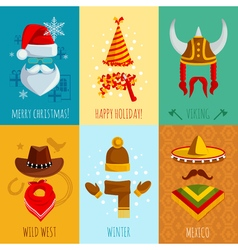 Hats And Accessories Mini Posters vector
