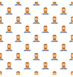hipster pattern seamless vector image