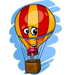 Hot air balloon cartoon vector