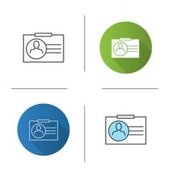 identification badge icon vector image