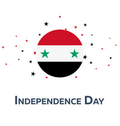 independence day of syria patriotic banner vector image