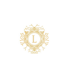 Initial l wedding boutique logo designs vector