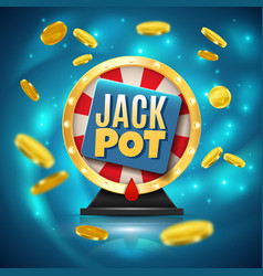 Jackpot realistic background vector