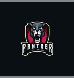 logo panther e sport and sport style vector image