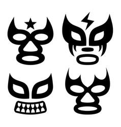 lucha libre faces design luchador vector image