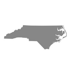 Map of the us state of north carolina vector