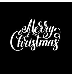 merry christmas black and white handwritten vector image - Merry Christmas Black And White