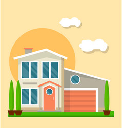 modern living house vector image