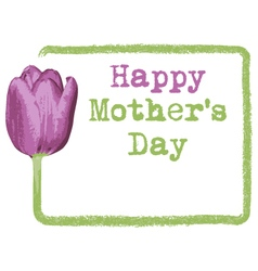 mothers day greeting card background vector image