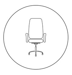 Office chair icon black color in circle vector