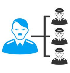 Officer subordinates flat icon vector