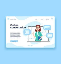 online doctor consultation patient health vector image