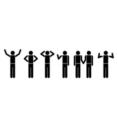 people in actions symbols vector image