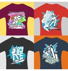 Prints for sweatshirt vector