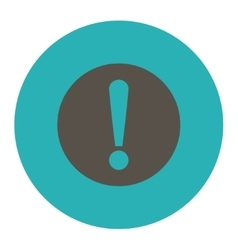 Problem flat grey and cyan colors round button vector