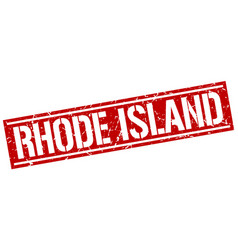 rhode island red square stamp vector image