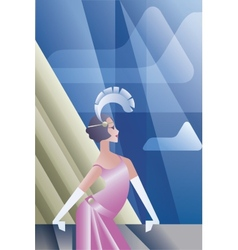 Roaring 20s poster with flappers day sky vector image