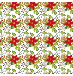 Seamless Christmas and New Year pattern with cute vector image