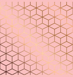seamless pattern design with golden geometric vector image