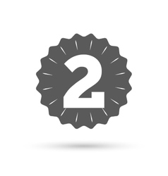 Second place award sign Winner symbol vector image