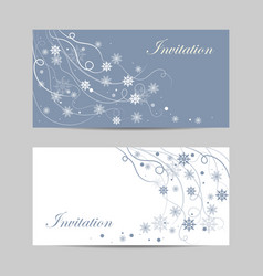 set horizontal banners beautiful winter vector image