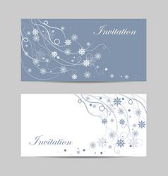 set of horizontal banners beautiful winter vector image