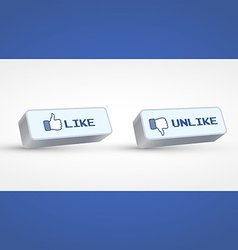 Social buttons vector