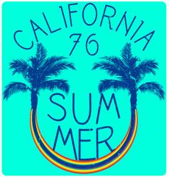 summer slogan print tee graphic design t shirt vector image