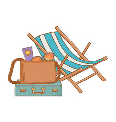 summer time and travel cartoon vector image