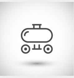 trailer tank line icon vector image