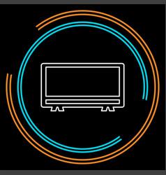 tv icon - television screen vector image