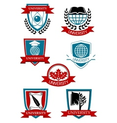 University emblems and symbols vector image