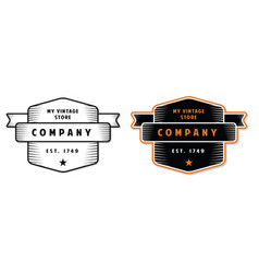 vintage engraved badge vector image