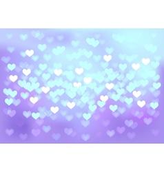 Violet festive lights in heart shape background vector