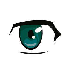 anime eye manga comic expression image vector image